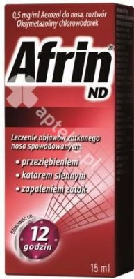 Afrin ND aer.donosa,plyn(roztwór) 0,5mg/ml