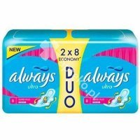 Always, podp.,ultra super plus, 2 x 8 szt (duo)