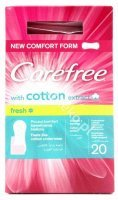 John. Carefree with cotton extract, wkład.,fresh, 20 szt