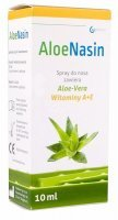 AloeNasin, spray, do nosa, aloe vera, wit.A+E, 10 ml