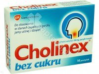 Cholinex b/cukru pastyl.do ssan. 0,15 g 16