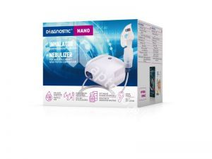 Inhalator DIAGNOSTIC NANO kompresorowy tło