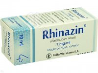 Rhinazin 0.1% krople do nosa  fl.10 ml. KR